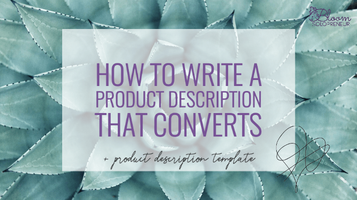 How to write a Product Description that converts