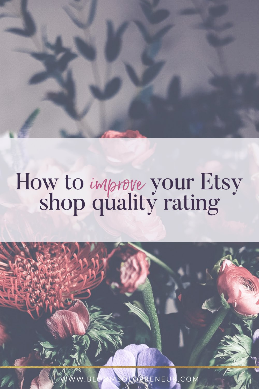 Your Etsy shop quality rating is one of the measures Etsy uses to determine where you are in the search results. Reach the top of the Etsy search by working on and improving your Etsy Shop Quality rating. This includes Customer service, bounce rate and order dissatisfaction rate. Learn how to improve your Etsy ranking in search. #howtosellonetsy #howtosellonetsy #craftbusiness #handmadebusiness #creativebusiness #bloomsolopreneur