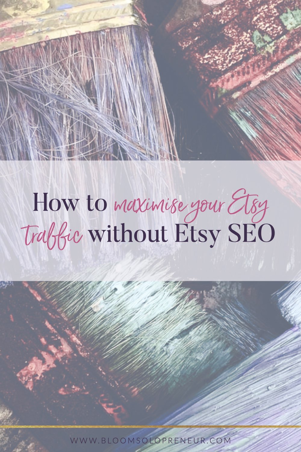 Etsy SEO is only one way for you to drive traffic to your Etsy shop and listings. Take advantage of the many ways you can promote your shop to increase your traffic. If you are anything like me you have been indoctrinated with getting your Etsy search engine optimization right or no one will find your products and you won't make any sales. #handmadebusiness #craftbusiness #creativebusiness #bloomsolopreneur
