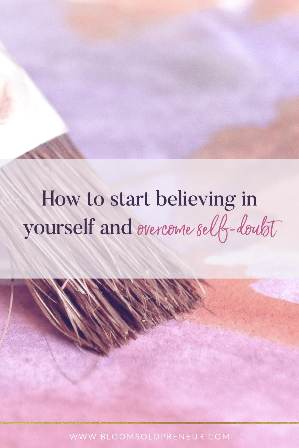 We all suffer and struggle with self-doubt and stop believing in yourself when we want to do something different. Not only at the start of our business journey, but when we try and grow our business, the self-doubt creeps back in. Believing in yourself to start something new takes courage. It's one thing to have a dream of starting a new business, but it's something else to have the belief in yourself to turn that dream into a successful and profitable business that you love. #bloomsolopreneur