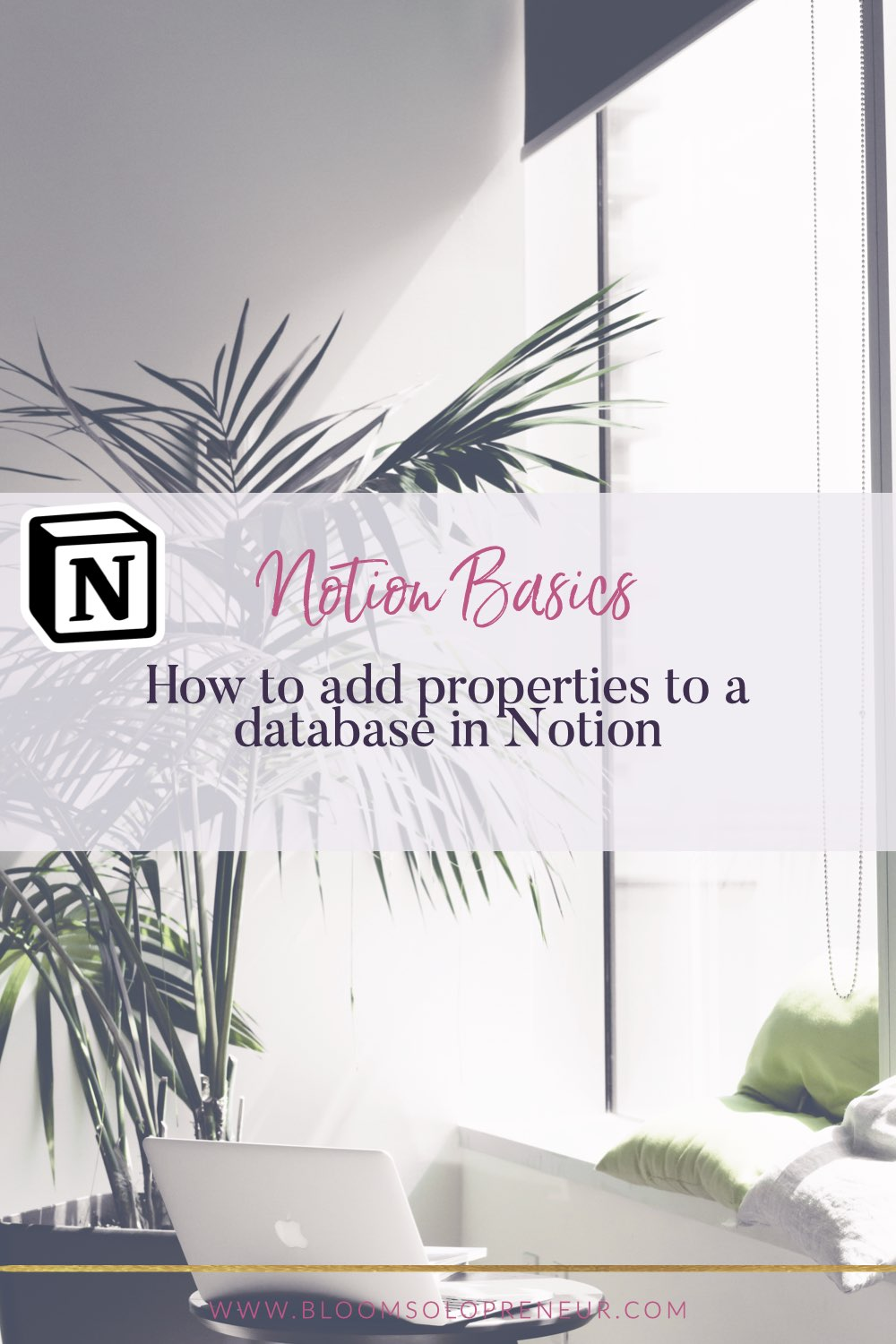 This is part of a video series for the Notion App to create Notion templates. In this video, I'll show you how to add new properties to a database in Notion. I use Notion to help me keep track of EVERYTHING I need to do in my life and business and I can't believe how much it has helped me stay organised and focused on my most important tasks. #bloomsoloprenuer